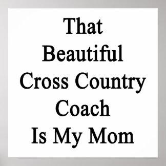 Que el coche hermoso del campo a través es mi mamá poster