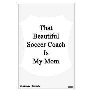 Que el coche hermoso del fútbol es mi mamá
