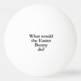 qué el conejito de pascua haría pelota de ping pong