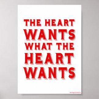 Qué el corazón quiere póster