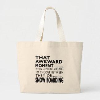 Que el embarque torpe de la nieve del momento bolsa