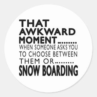 Que el embarque torpe de la nieve del momento pegatina