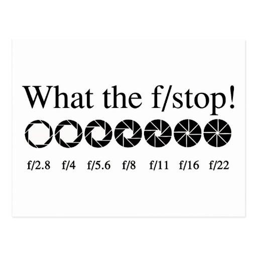 ¿QUÉ el f/STOP? Postales