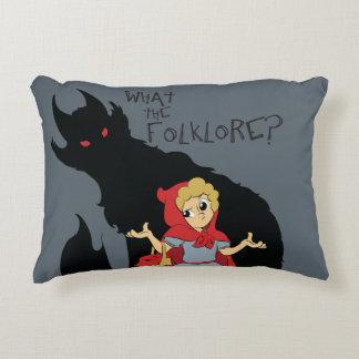 ¿Qué el folclore? Almohada roja de la capa con