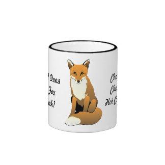 ¿Qué el Fox bebe? ¡Chocolate caliente! Taza
