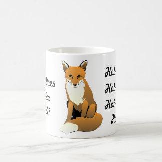 ¿Qué el Fox bebe? ¡Té caliente! Taza