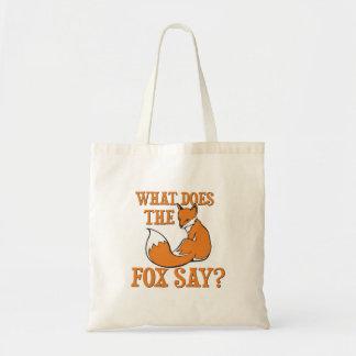 ¿Qué el Fox dice? Bolsa Tela Barata