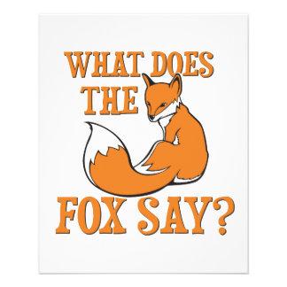 ¿Qué el Fox dice Flyer A Todo Color