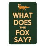 ¿Qué el Fox dice? Imán superior del refrigerador d