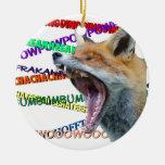 ¿Qué el Fox dice? Ornaments Para Arbol De Navidad