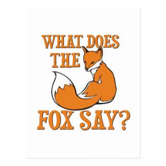 ¿Qué el Fox dice Postales
