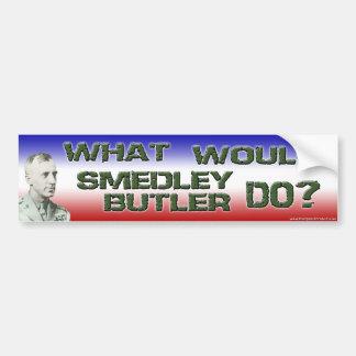 ¿Qué el mayordomo de Smedley haría? Pegatina Para Auto