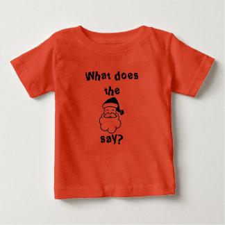 ¿Qué el Papá Noel dicen? Camisas