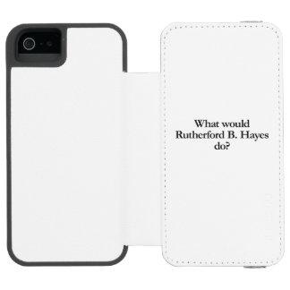 qué el rutherford b hayes haría funda cartera para iPhone 5 watson