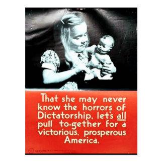 Que ella nunca puede tarjeta postal