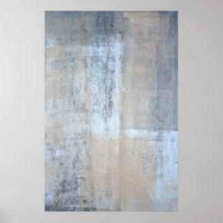 """""""Que es"""" arte abstracto gris y beige simple Póster"""