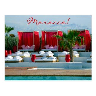 """Que es vida"", poolside del lujo de Marruecos Tarjeta Postal"