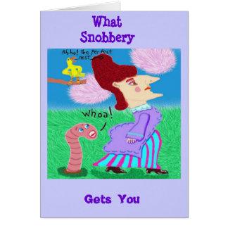Qué esnobismo le consigue tarjeta de felicitación