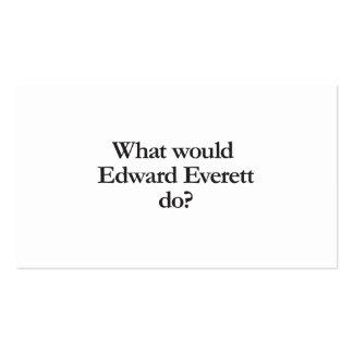 qué everett de edward haría tarjetas de visita