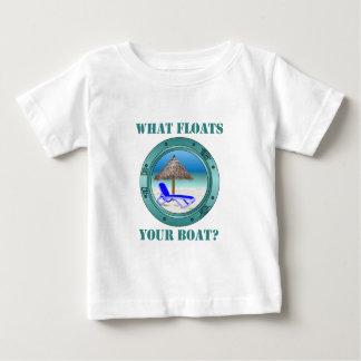 Qué flota su barco playera de bebé