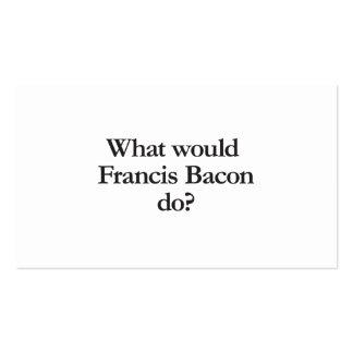 qué Francis Bacon haría Tarjetas De Visita