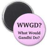 ¿Qué Gandhi haría? Imán De Frigorífico