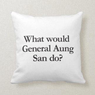 qué general Aung San haría Cojines