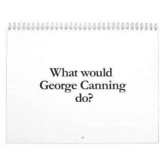 qué George que conservaba para hacer Calendario De Pared