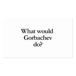 qué gorbachev haría tarjetas de visita
