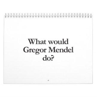 qué Gregor Mendel haría Calendarios De Pared