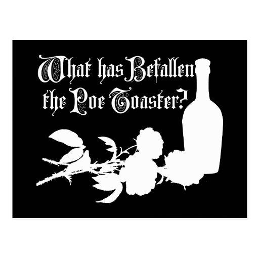 Qué ha acontecido la tostadora del Poe Tarjeta Postal