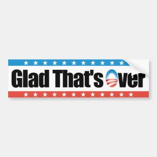 Que ha terminado - Obama anti alegre Pegatina Para Auto