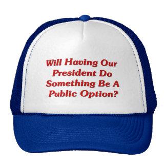 ¿Que hace algo será una opción pública Gorra