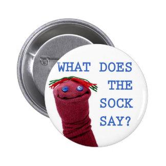 ¿Qué hace el calcetín dice? Pins