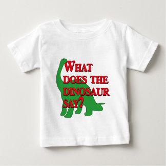 ¿Qué hace el dinosaurio dice? Polera