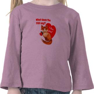 Qué hace el Fox para decir amor usted corazón Camisetas