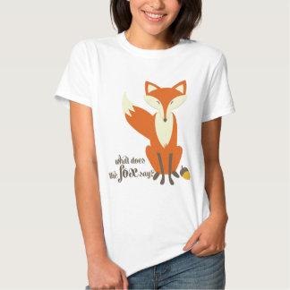 Qué hace el Fox para decir la camiseta de las Polera