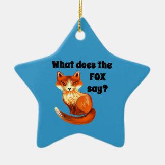 Qué hace el Fox para decir la ropa y los regalos Adorno Navideño De Cerámica En Forma De Estrella