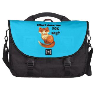 Qué hace el Fox para decir la ropa y los regalos Bolsas Para Portatil