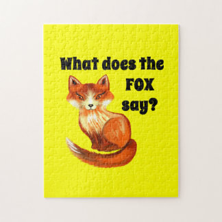Qué hace el Fox para decir la ropa y los regalos Rompecabezas Con Fotos