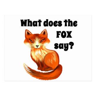 Qué hace el Fox para decir la ropa y los regalos Tarjeta Postal