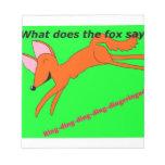 ¿Qué hace el zorro dice? Blocs De Notas