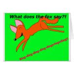 ¿Qué hace el zorro dice? Felicitaciones