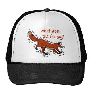 ¿Qué hace el zorro dice Gorras
