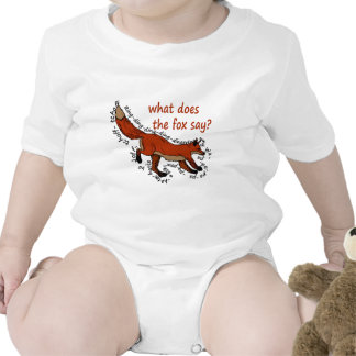 ¿Qué hace el zorro dice? Camisetas
