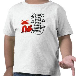 ¿Qué hace el zorro dice? Camiseta