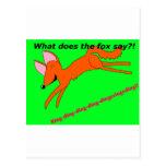 ¿Qué hace el zorro dice? Postal