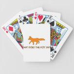 qué hace el zorro diga barajas de cartas