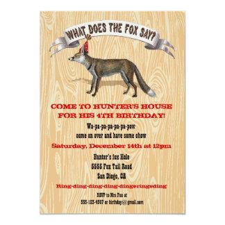 Qué hace el zorro diga la invitación de la fiesta invitación 12,7 x 17,8 cm