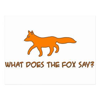 qué hace el zorro diga tarjetas postales